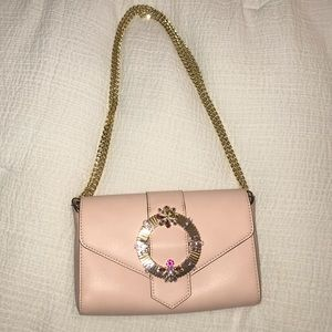 Pink Shoulder Bag With Chain Strap